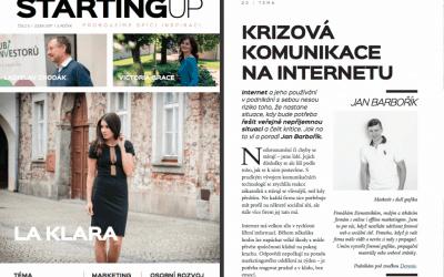 Krizová komunikace na internetu (článek pro magazín Starting Up)