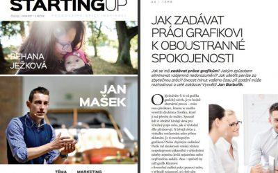 Jak zadávat práci grafikovi koboustranné spokojenosti (článek pro magazín Starting Up)