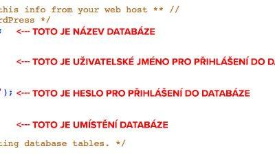 WordPress: Jak se dostat do administrace, když neznám heslo?